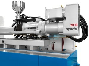 Hybrid high-performance injection units